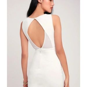 New With  tags white lulus dress
